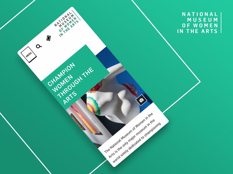 National Museum of Women in the Arts —Mobile Shot mobileui ui museum of art museum mobile design website redesign website