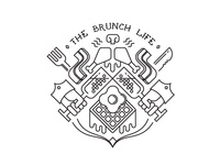 the brunch life - tattoo for a friend