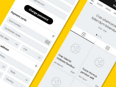 Turbo iOS Wireframe Kit free sample demo ui ux wireframes turbo ios download e-commerce sketch