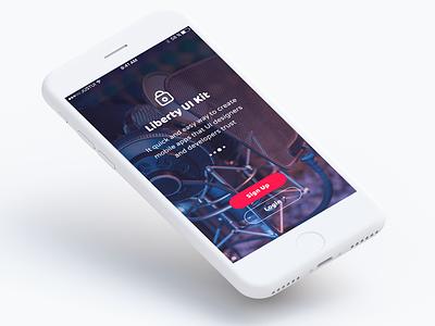 Liberty Mobile UI Kit screen app mobile ui kit liberty