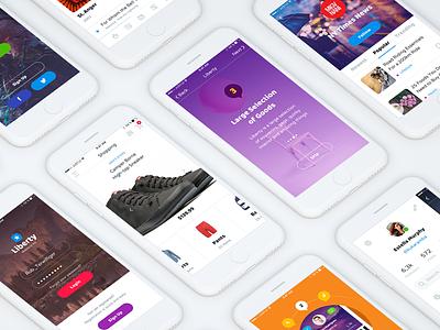 Liberty Mobile UI Kit ios iphone login news liberty e-commerce ui kit download sample free screens