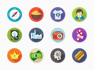 Luchesa Flat Icons icons navigation user payment radio merry christmas crash test flat icon luchesa set ui8
