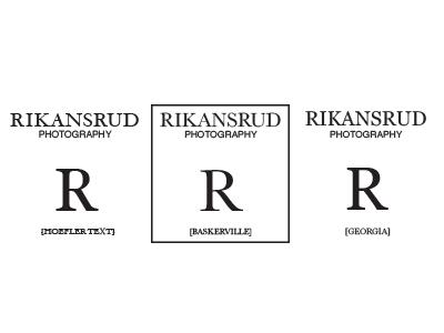 Rikansrud Photography Font Studies typography identity design logo branding