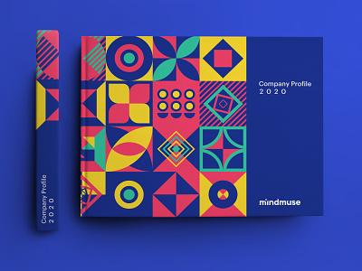 mindmuse company profile 2020 vector colorful landscape brochure portfolio catalog design identity design design agency advertising agency company profile brand book art direction geometric agency branding agency illustration branding