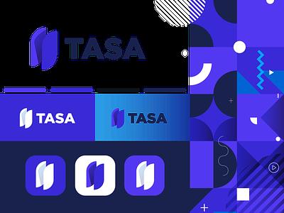 Brand exploration for TASA Fanicial app logodesign ios app icon app logo app icon app vector typography digital logo logo grid brand identity design shapes geomtric brand identity visual identity illustration design logo branding