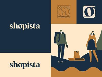 Shopista - logo and UI identity design typeface fashion shopping app shopping logo store shop e-commerce flat animation web typography icon branding design identity system ui logotype serif illustration logo branding