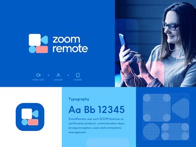 ZoomRemote brand exploration flat typography web app logo 2021 2020 trendy trend inspiration logosymbol logomarks ios app icon mobile app ui app logomark logo branding brand