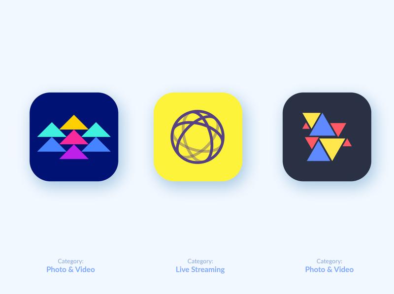 App icon design explorations mobile app ios14 ios icon android icon circle logo geometric triangle app icon designers app icon design minimal web app ios icon app identity logo branding app logo app icon logo app icon