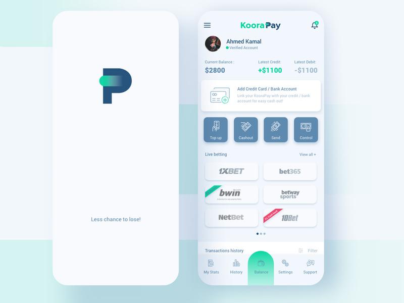 KooraPay mobile app UI design by AK on Dribbble