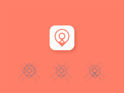 Location pin app icon design