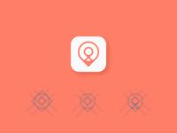 Location pin app icon design