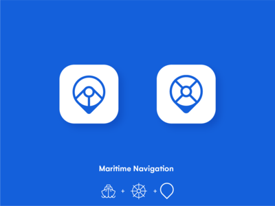 Maritime navigation app icon design