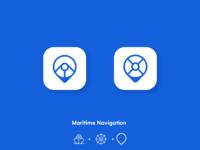 Maritime navigation app icon design