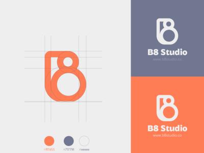 B8 Studio logo design