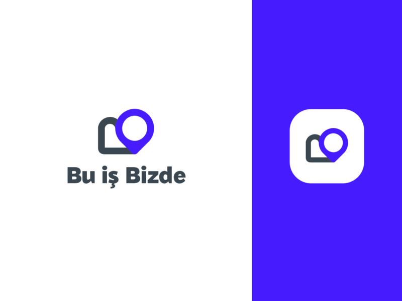 Bu is Bizde logo concept location icon service app app icon inspiration logo inspiration ios app website b letter service directory location pin location flat web identity app icon app icon ui design logo branding