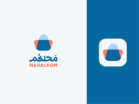 Mahalkom arabic e-commerce logo