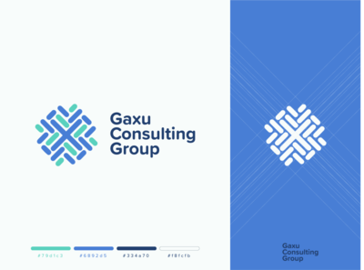 Gaxu Consulting group logo design