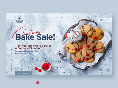 Christmas Bake sale landing page for Bakery shop