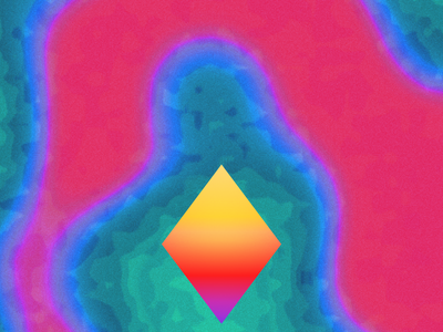 Gel Shapes blue purple triangle green pink gradient