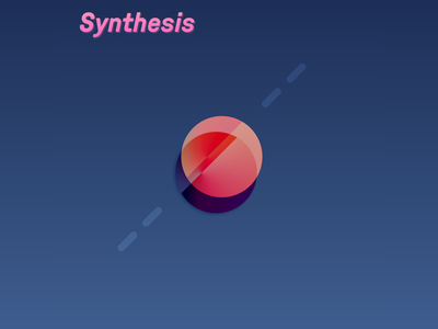 Phasing Sphere synthesis purple lines shadow pink blue text sphere 3d gradient