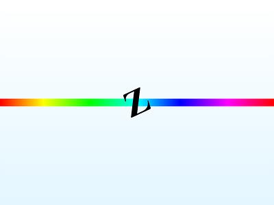 Gradient Zeta roygbiv minimal text white z 80s zeta rainbow gradient