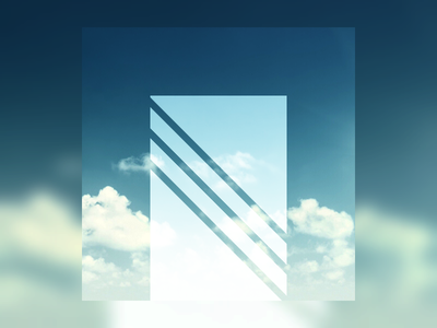 Focal Object blur white video abstract teal blue green clouds sky gradient