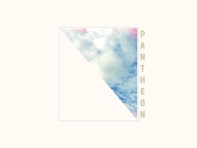 Pantheon minimal box text cream beige clouds