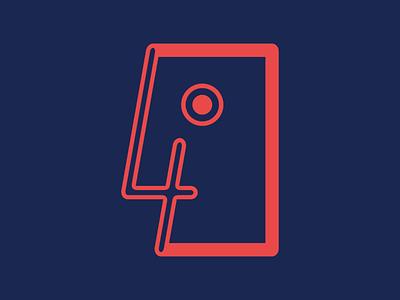 Bornagain lines vector eye logo blue red