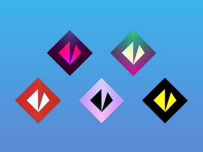 Variations 2d simple logo gradient vector