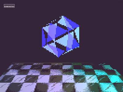 Crystal Dream crystal checkerboard grid retro green purple pixel