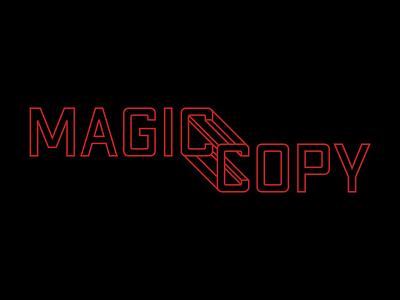 Depth Experiment outline minimal 3d illusion black illustration text vector red
