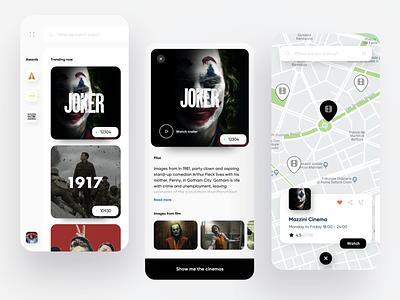 Movie App dribbble movies page detail map cards oscar movie ios dashboard design app ux ui
