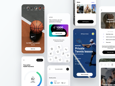 Experiences Finder APP fitness experience sport books stories card booking activity dribbble dashboard design app ux ui
