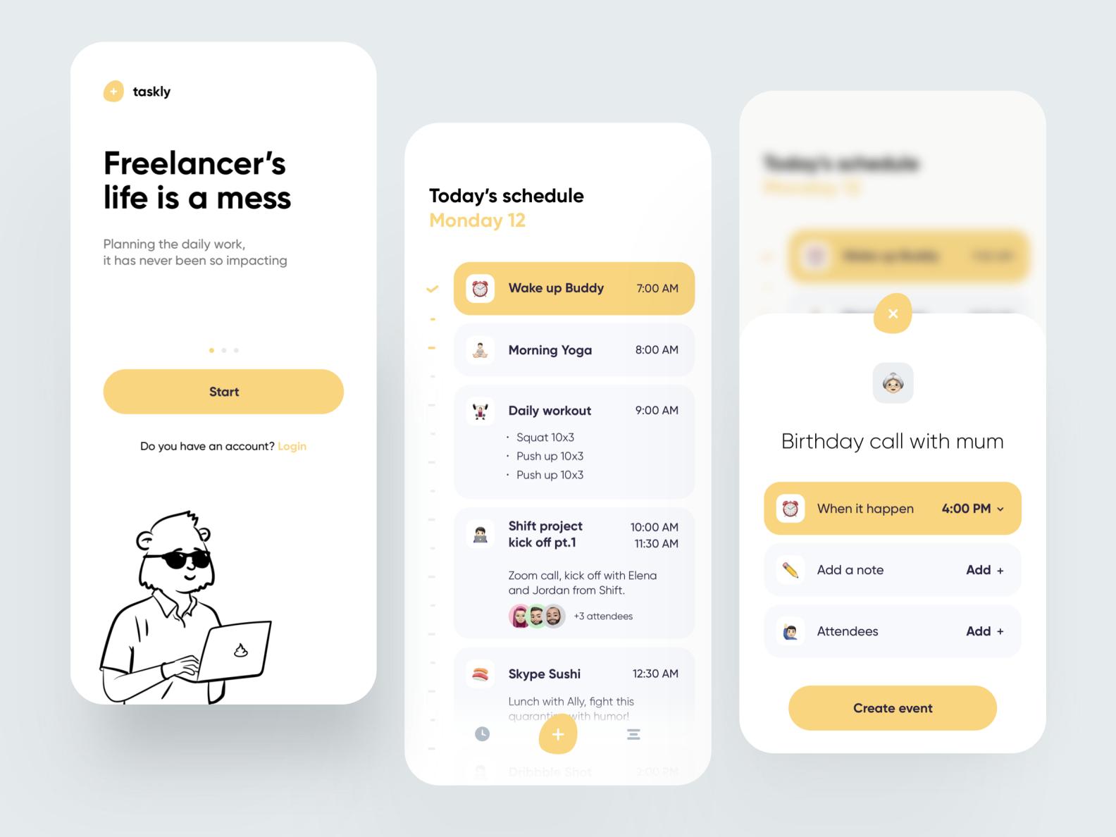 Freelancer Schedule App