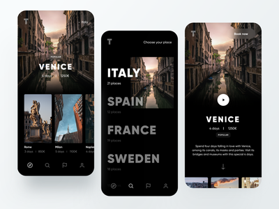 Luxury Travel App detail page detail product discover cards ui card travel app traveling travel minimal dribbble dashboard design app ux ui