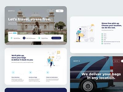 Bag Travel Service travel flat illustration web design card dribbble website web dashboard design app ux ui