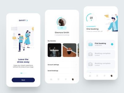Travel Bags App gamification profile walkthrough onboarding illustrations travel app travel flat illustration dribbble minimal ios dashboard design app ux ui