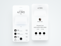 Nobank Mobile App white dribbble trend neumorph bank cards card creative minimal ios dashboard ux design app ui