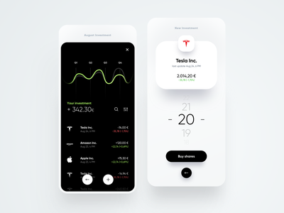 Nobank Investment chart cards card banking trendy trend bank dribbble minimal ios dashboard ux design app ui