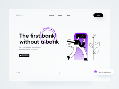 nobank web neumorph shadow illustration bank web design website web dribbble minimal ios dashboard ux design app ui