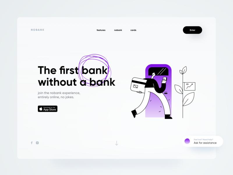 nobank web neumorph shadow illustration bank web design website web dribbble minimal ios dashboard ux design app ui
