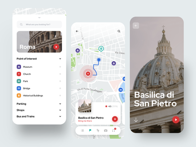 Tourist App interests card points tourist discover traveling trip travel color creative dribbble minimal ios dashboard ux design app ui