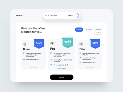 Insurance Car Pricing Web purchasing steps price pricing color creative dribbble minimal ios dashboard ux design app ui