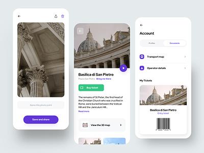Travel App (Details) account detail photo picture ticket travel flat card creative dribbble minimal ios dashboard ux design app ui