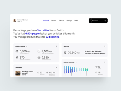 Activity Dashboard booking schedule task management app managment income activity card creative dribbble minimal ios dashboard app ux design ui