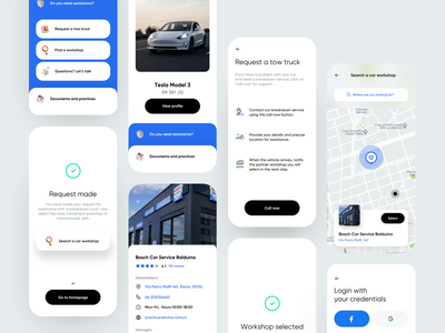 Warranty App tesla login request map warranty car flat card dribbble minimal ios dashboard app ux design ui
