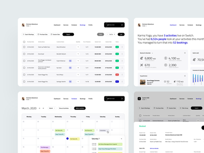B2B Dashboards activity schedule scheduling booking vendors sales b2b dribbble minimal ios dashboard app ux design ui