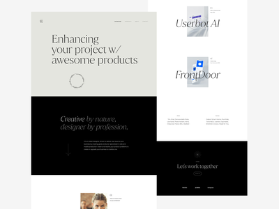 Design Portfolio fonts typeface 2021 creative dribbble minimal website wordpress personal portfolio web ux design ui