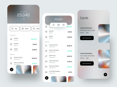 Bank App 2021 2021 trend bank app metallic card bank trend 2021 dribbble minimal ios dashboard app ux design ui