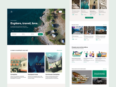 EasyCamper Web booking airbnb web design illustration creative dribbble travelling travel website web ux design ui